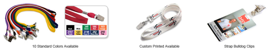 10 Colors of Lanyards, Customer Printed Lanyards, and Strap Clips